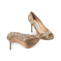 Authentic Second Hand Jimmy Choo Python Peep Toe Sandals (PSS-A26-00010) - Thumbnail 5