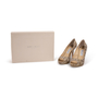 Authentic Second Hand Jimmy Choo Python Peep Toe Sandals (PSS-A26-00010) - Thumbnail 7