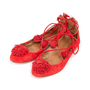 Authentic Second Hand Aquazzura Sunshine Suede Flats (PSS-A43-00001) - Thumbnail 3