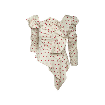 Authentic Second Hand Self-Portrait Polka Dot Frill Top (PSS-A43-00005)