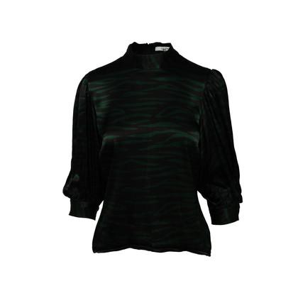 Authentic Second Hand Ganni Zebra Print Blouse (PSS-A43-00007)