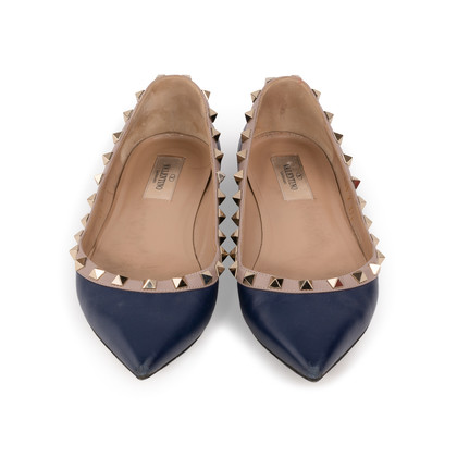 Authentic Second Hand Valentino Rockstud Ballerina Flats (PSS-A46-00001)