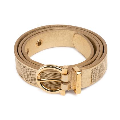 Authentic Second Hand Salvatore Ferragamo Chain Mesh Embedded Belt (PSS-A46-00006)