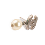 Authentic Second Hand Chanel Pearl Dangle Logo Earrings (PSS-A46-00007) - Thumbnail 5