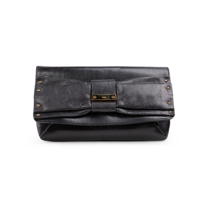 Authentic Second Hand Chloé June Bow Clutch (PSS-A46-00009)