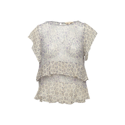 Authentic Second Hand Rebecca Taylor Sheer Printed Top (PSS-097-00888)