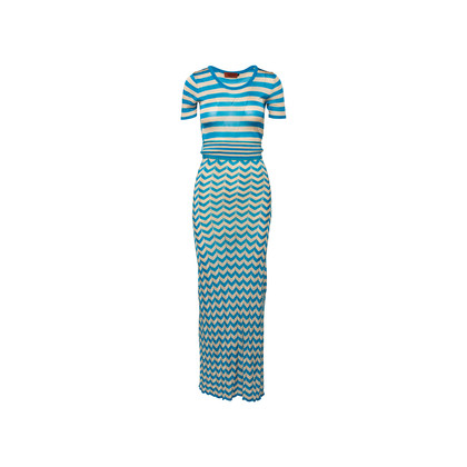 Authentic Second Hand Missoni Striped Knit Dress (PSS-370-00182)