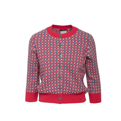 Authentic Second Hand Chanel Check Cashmere Cardigan (PSS-990-00466)