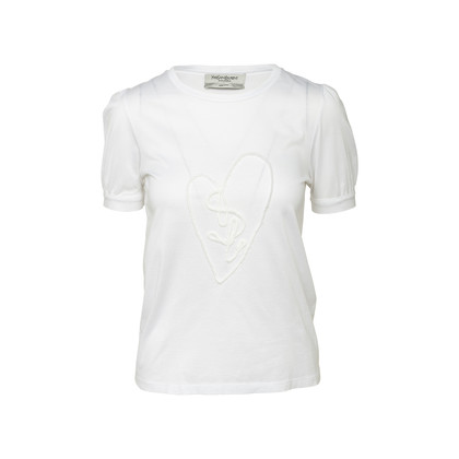 Authentic Second Hand Yves Saint Laurent Heart Logo Tee (PSS-852-00057)