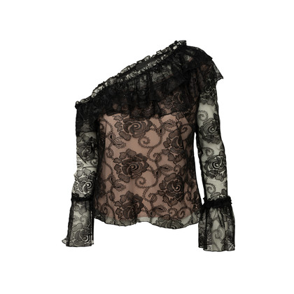 Authentic Second Hand Nicholas Rosie Lace One Shoulder Top (PSS-200-01977)