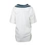 Authentic Second Hand Juun. J Denim Trim Cotton Top (PSS-200-01982) - Thumbnail 1