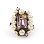 Authentic Second Hand Gucci Crystal Pearl Ring (PSS-393-00082) - Thumbnail 0