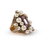 Authentic Second Hand Gucci Crystal Pearl Ring (PSS-393-00082) - Thumbnail 1