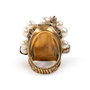 Authentic Second Hand Gucci Crystal Pearl Ring (PSS-393-00082) - Thumbnail 2