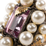 Authentic Second Hand Gucci Crystal Pearl Ring (PSS-393-00082) - Thumbnail 4