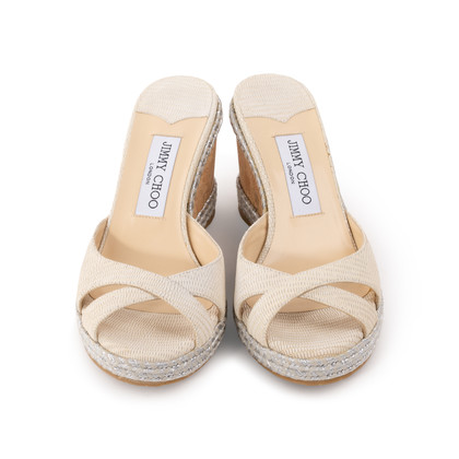 Authentic Second Hand Jimmy Choo Almer Espadrille Wedge (PSS-A53-00003)