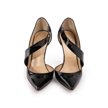 Authentic Second Hand Christian Louboutin Ograde Cross Strap Pumps (PSS-A53-00007)