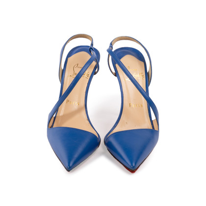 Authentic Second Hand Christian Louboutin June 100 Slingback Pumps (PSS-A53-00008)
