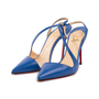 Authentic Second Hand Christian Louboutin June 100 Slingback Pumps (PSS-A53-00008) - Thumbnail 3