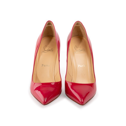 Authentic Second Hand Christian Louboutin Pigalle 100 Patent Pumps (PSS-A53-00009)