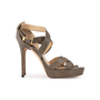Authentic Second Hand Jimmy Choo Stingray Embossed Sandals (PSS-A62-00005) - Thumbnail 1