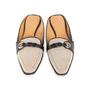 Authentic Second Hand Hermès Canvas Mules (PSS-A32-00076) - Thumbnail 0