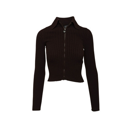 Authentic Second Hand Gucci Collared Cardigan (PSS-A32-00054)