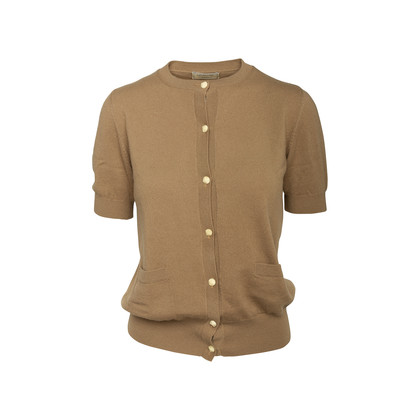Authentic Second Hand Maison Kitsuné Cashmere Short Sleeve Cardigan (PSS-145-00406)