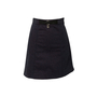 Authentic Second Hand Hermès Belted Detail Denim Skirt (PSS-913-00012) - Thumbnail 1