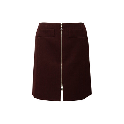 Authentic Second Hand Louis Vuitton Wool Zip Front Skirt (PSS-990-00541)