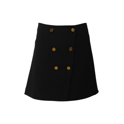 Authentic Second Hand Louis Vuitton Wool and Silk Button Skirt (PSS-990-00544)