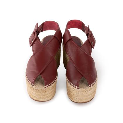 Authentic Second Hand Céline Platform Esapdrille Sandals (PSS-561-00077)