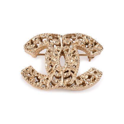 Authentic Second Hand Chanel CC Brooch (PSS-852-00073)