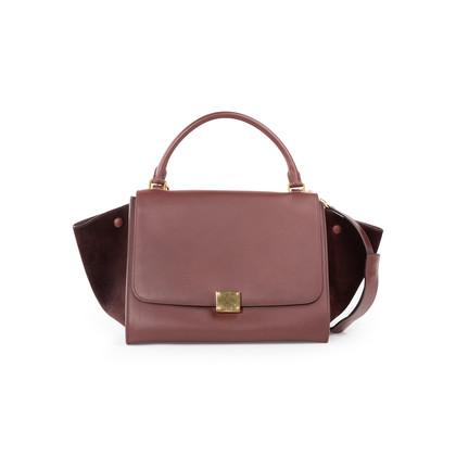 Authentic Second Hand Céline Suede Trim Trapeze Bag (PSS-A70-00010)