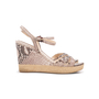Authentic Second Hand Prada Embossed Snakeskin Espadrille Wedges (PSS-393-00109) - Thumbnail 1