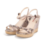 Authentic Second Hand Prada Embossed Snakeskin Espadrille Wedges (PSS-393-00109) - Thumbnail 3