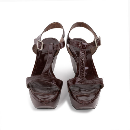 Authentic Second Hand Marni T-Strap Wedge Sandals (PSS-393-00110)