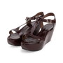 Authentic Second Hand Marni T-Strap Wedge Sandals (PSS-393-00110) - Thumbnail 3
