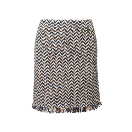 Authentic Second Hand Chanel Wool Tweed Skirt (PSS-990-00587)