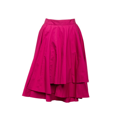 Authentic Second Hand Hermès Pleat Layered Skirt (PSS-990-00589)
