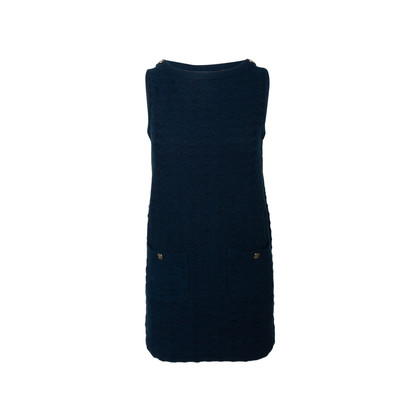 Authentic Second Hand Chanel Sleeveless Knit Tunic Dress (PSS-990-00561)