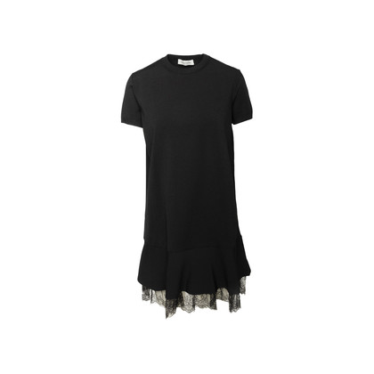 Authentic Second Hand Valentino Lace Trim Shift Dress (PSS-990-00579)