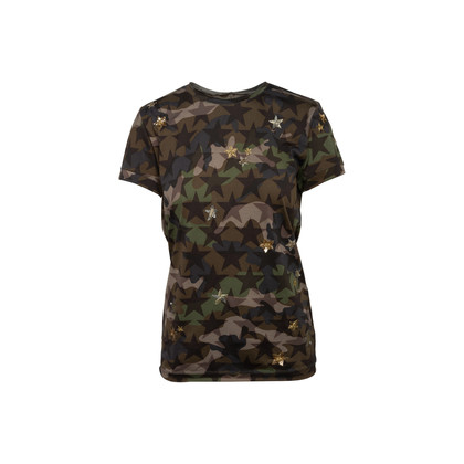 Authentic Second Hand Valentino CamuStars T-Shirt (PSS-990-00602)