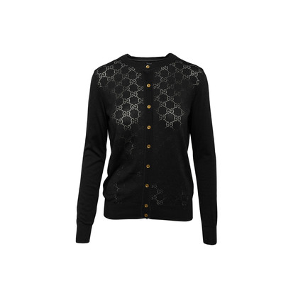 Authentic Second Hand Gucci Monogram Knit Cardigan (PSS-990-00615)