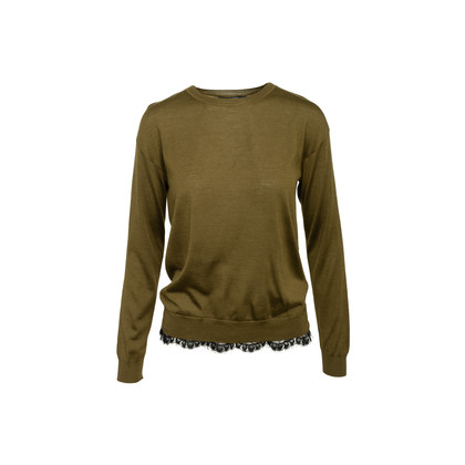 Authentic Second Hand Gucci Lace Trim Sweater (PSS-990-00616)