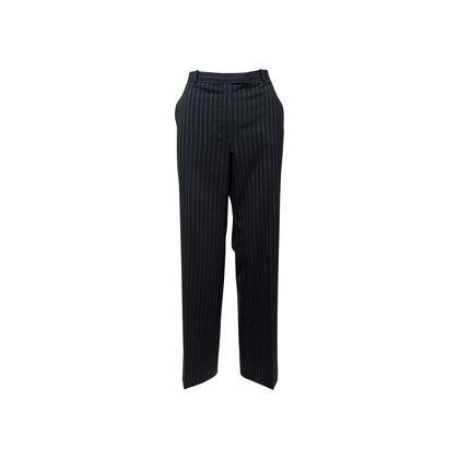 Authentic Second Hand Armani Collezioni Pinstripe Straight Cut Pants (PSS-A75-00017)