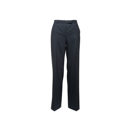 Authentic Second Hand Armani Collezioni Navy Wide Leg Trousers (PSS-A75-00022)