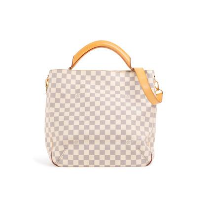 Authentic Second Hand Louis Vuitton Soffi Damier Azur Satchel (PSS-299-00037)