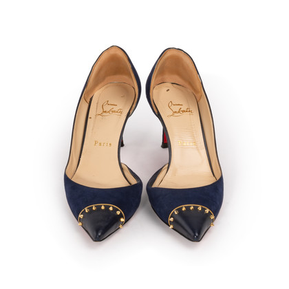 Authentic Second Hand Christian Louboutin Culturella Suede D'Orsay Pumps (PSS-328-00031)