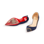 Authentic Second Hand Christian Louboutin Culturella Suede D'Orsay Pumps (PSS-328-00031) - Thumbnail 4
